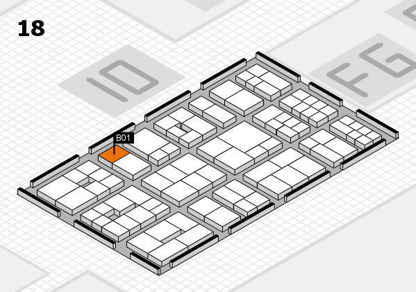 EuroShop 2017 hall map (Hall 18): stand B01