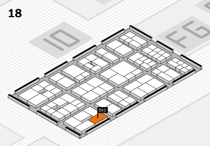 EuroShop 2017 hall map (Hall 18): stand B40