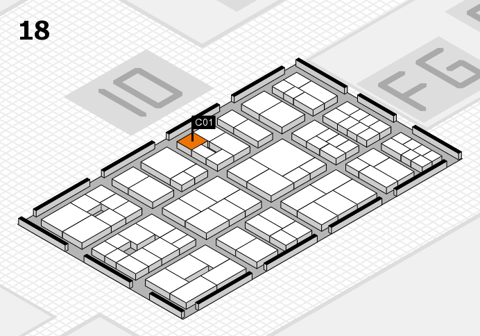 EuroShop 2017 hall map (Hall 18): stand C01