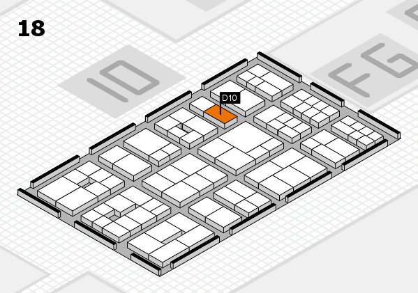 EuroShop 2017 hall map (Hall 18): stand D10