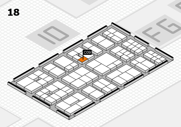 EuroShop 2017 hall map (Hall 18): stand C09