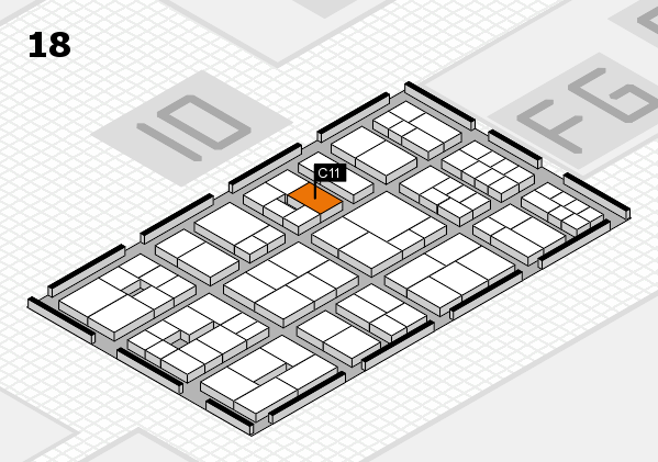 EuroShop 2017 hall map (Hall 18): stand C11