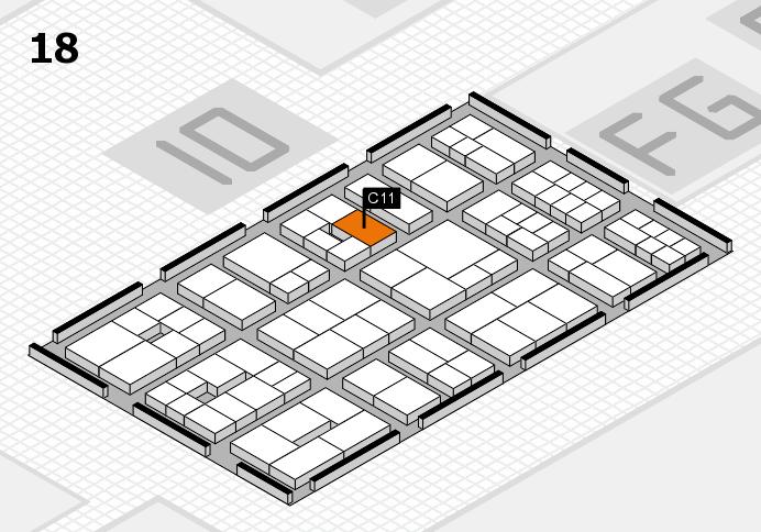 EuroShop 2017 Hallenplan (Halle 18): Stand C11