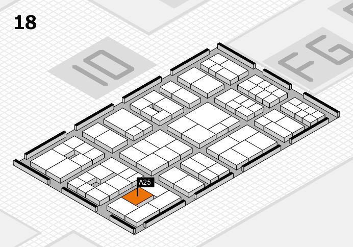 EuroShop 2017 hall map (Hall 18): stand A25