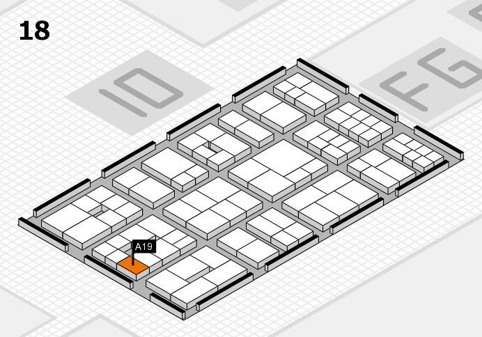 EuroShop 2017 hall map (Hall 18): stand A19