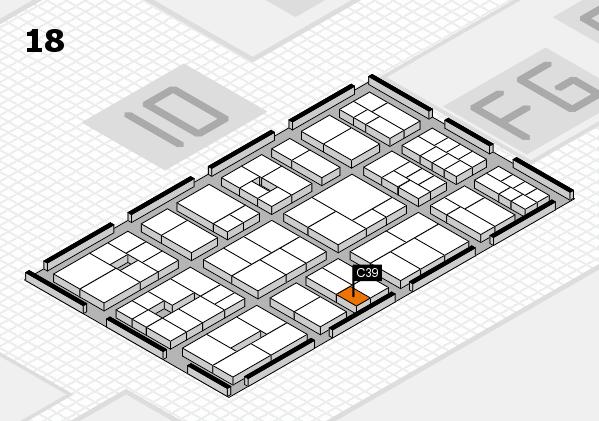 EuroShop 2017 hall map (Hall 18): stand C39