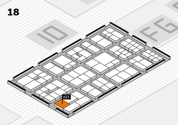 EuroShop 2017 hall map (Hall 18): stand A23