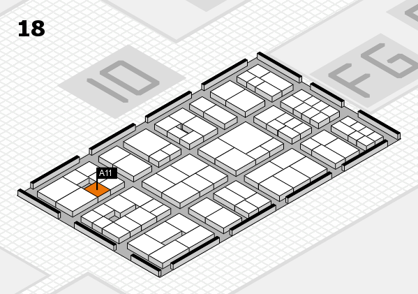 EuroShop 2017 hall map (Hall 18): stand A11