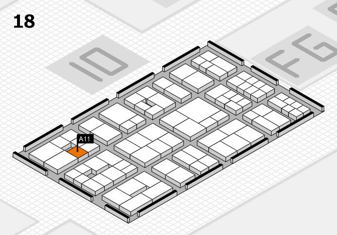 EuroShop 2017 hall map (Hall 18): stand A11