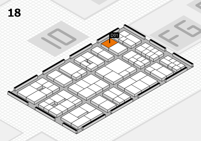 EuroShop 2017 hall map (Hall 18): stand D01