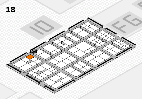 EuroShop 2017 hall map (Hall 18): stand B02