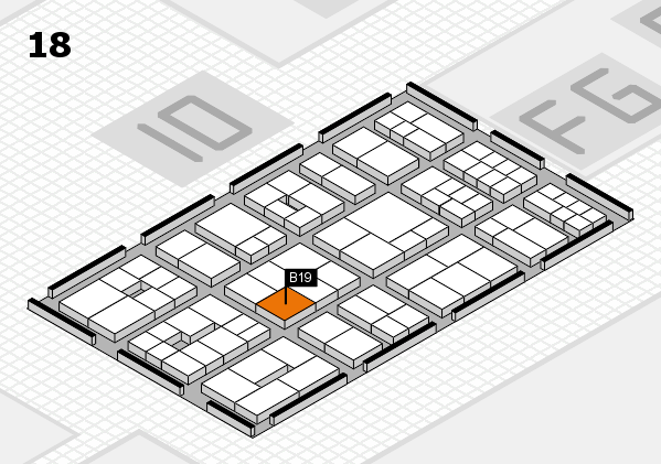 EuroShop 2017 hall map (Hall 18): stand B19