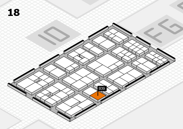 EuroShop 2017 hall map (Hall 18): stand B39