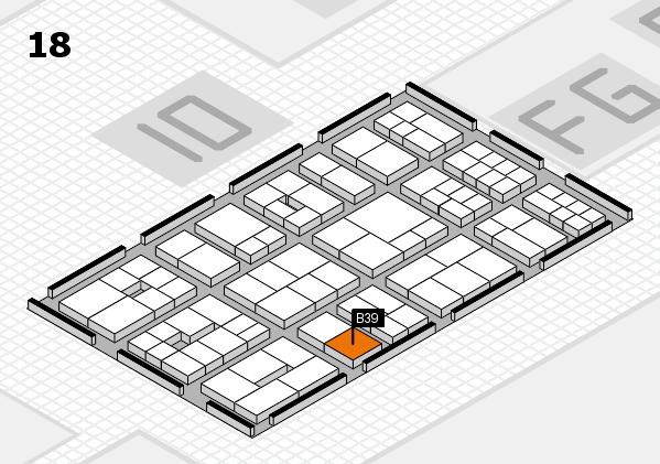 EuroShop 2017 hall map (Hall 18): stand B39