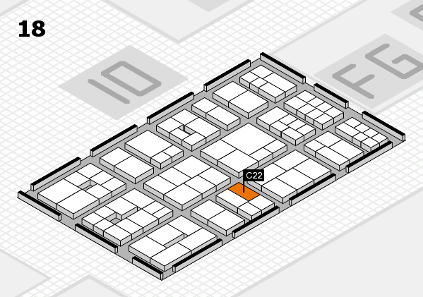 EuroShop 2017 hall map (Hall 18): stand C22