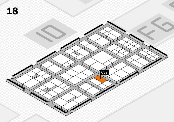 EuroShop 2017 hall map (Hall 18): stand C22