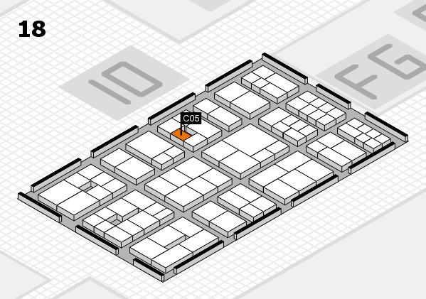 EuroShop 2017 hall map (Hall 18): stand C05