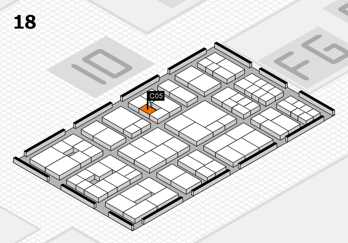 EuroShop 2017 hall map (Hall 18): stand C05