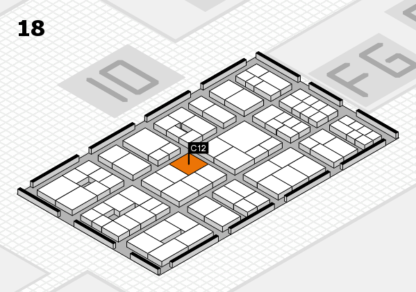 EuroShop 2017 hall map (Hall 18): stand C12
