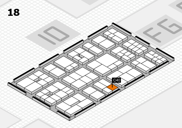EuroShop 2017 hall map (Hall 18): stand C40