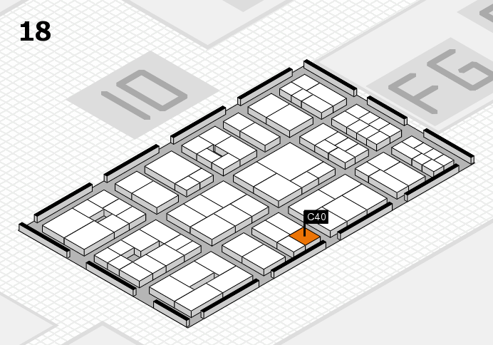 EuroShop 2017 hall map (Hall 18): stand C40