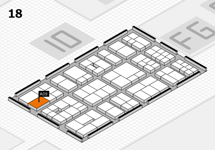 EuroShop 2017 hall map (Hall 18): stand A09