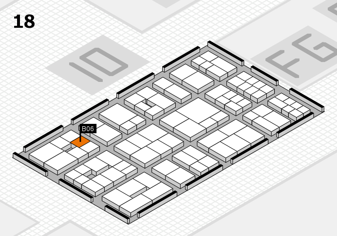 EuroShop 2017 hall map (Hall 18): stand B06