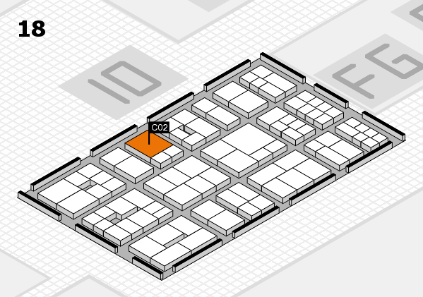 EuroShop 2017 hall map (Hall 18): stand C02