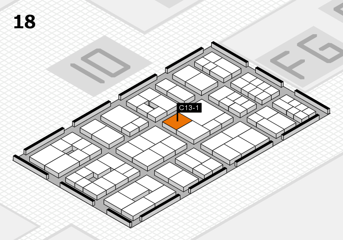 EuroShop 2017 hall map (Hall 18): stand C13-1