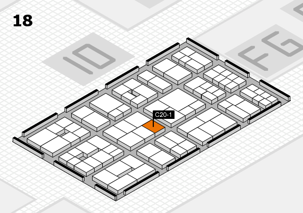 EuroShop 2017 hall map (Hall 18): stand C20-1