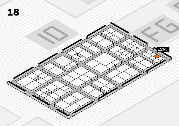 EuroShop 2017 hall map (Hall 18): stand E23-5