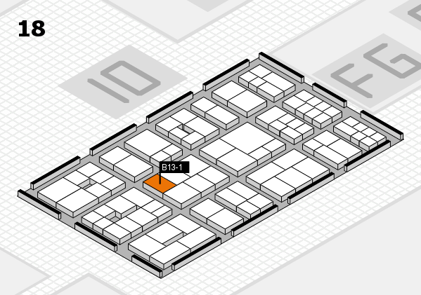 EuroShop 2017 hall map (Hall 18): stand B13-1