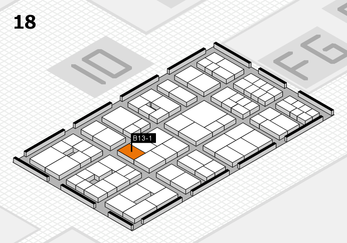 EuroShop 2017 hall map (Hall 18): stand B13-1