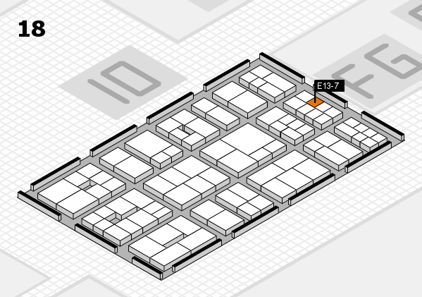 EuroShop 2017 hall map (Hall 18): stand E13-7