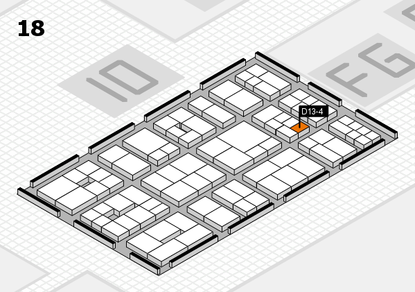EuroShop 2017 hall map (Hall 18): stand D13-4