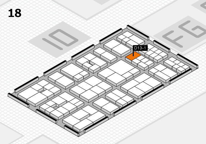 EuroShop 2017 hall map (Hall 18): stand D13-1