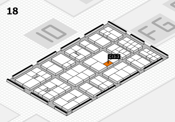 EuroShop 2017 hall map (Hall 18): stand C13-3