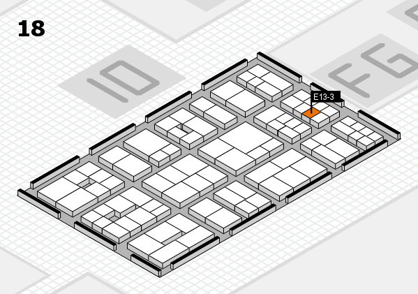 EuroShop 2017 hall map (Hall 18): stand E13-3