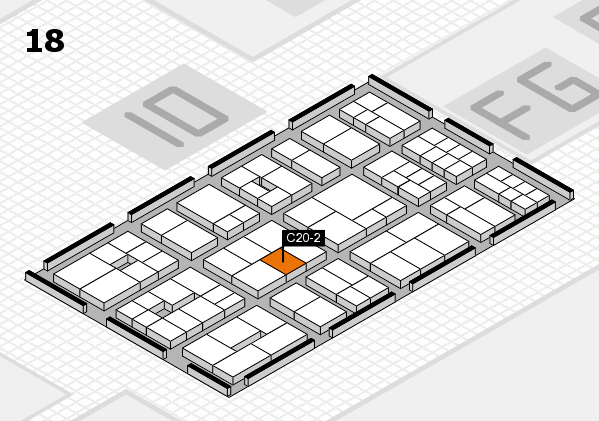 EuroShop 2017 hall map (Hall 18): stand C20-2