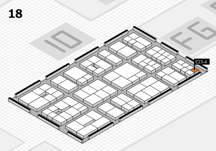EuroShop 2017 hall map (Hall 18): stand E23-4