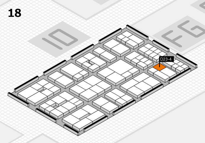 EuroShop 2017 hall map (Hall 18): stand D23-4