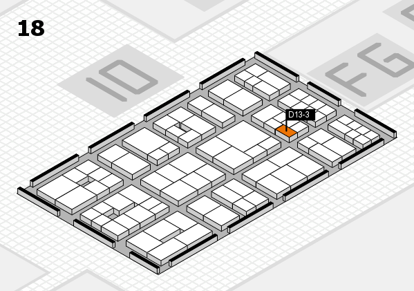 EuroShop 2017 hall map (Hall 18): stand D13-3