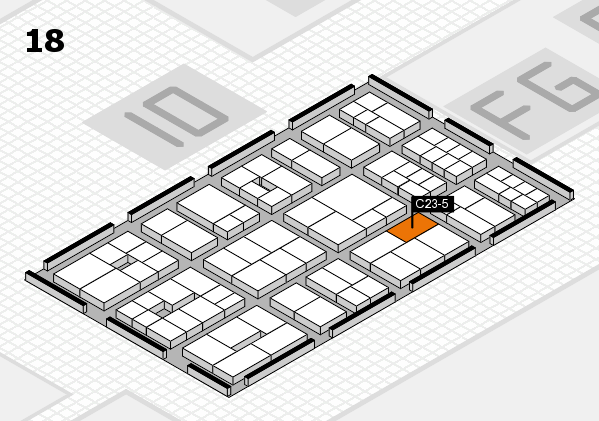 EuroShop 2017 hall map (Hall 18): stand C23-5