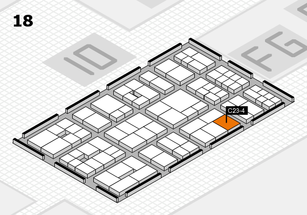 EuroShop 2017 hall map (Hall 18): stand C23-4