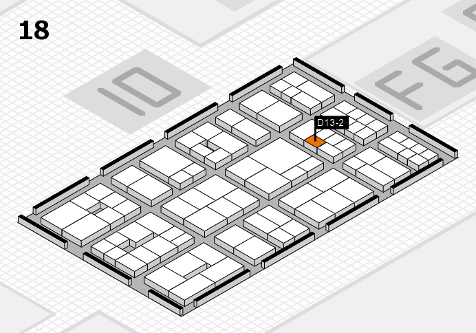 EuroShop 2017 hall map (Hall 18): stand D13-2