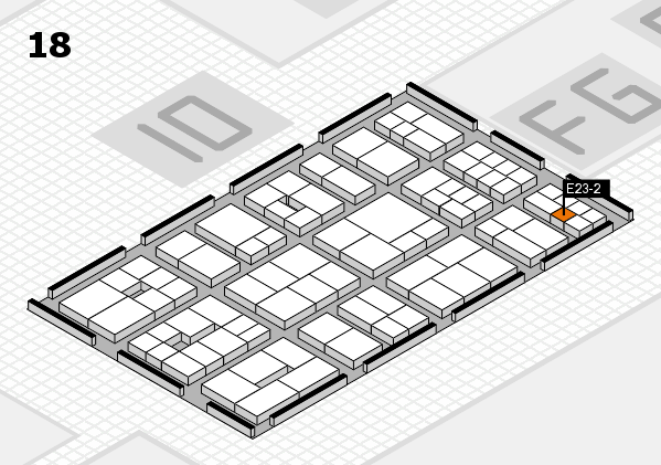 EuroShop 2017 hall map (Hall 18): stand E23-2