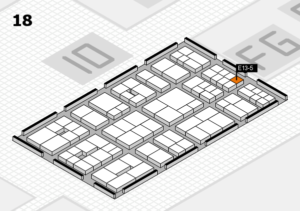 EuroShop 2017 hall map (Hall 18): stand E13-5