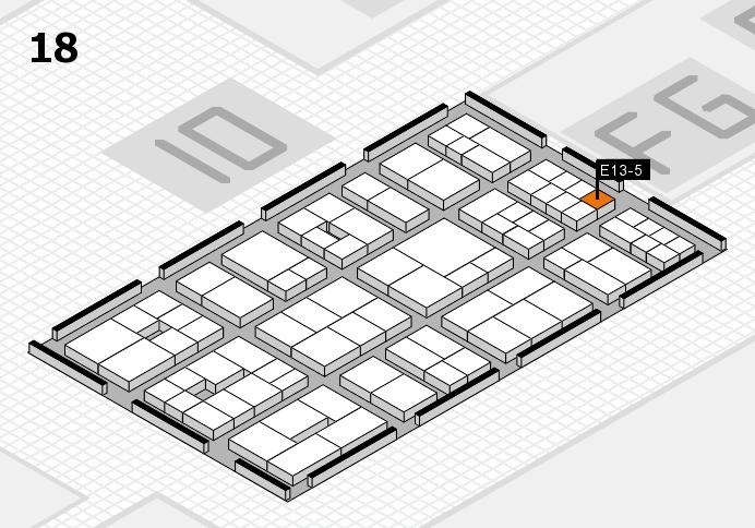 EuroShop 2017 hall map (Hall 18): stand E13-5