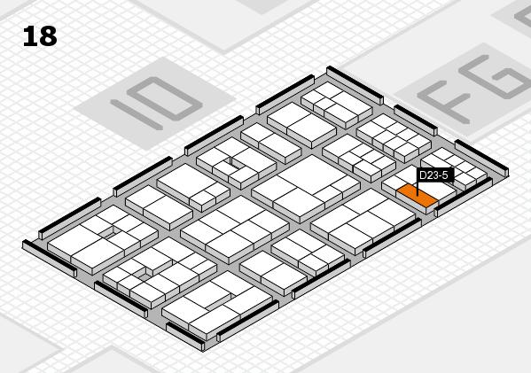 EuroShop 2017 hall map (Hall 18): stand D23-5