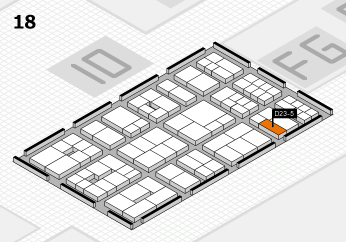 EuroShop 2017 hall map (Hall 18): stand D23-5